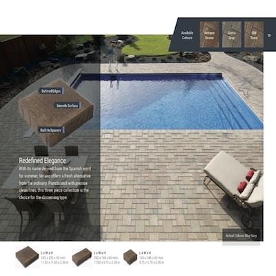 Barkman Verano Paving stone patio