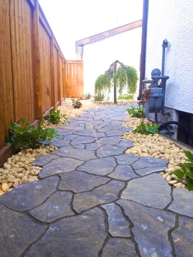 Flagstone landscaping Winnipeg sidewalk