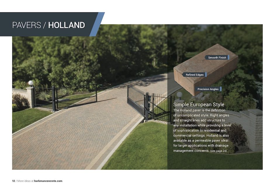 Barkman holland paving stone information