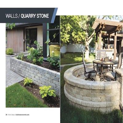 Barkman Quarry stone retaining wall