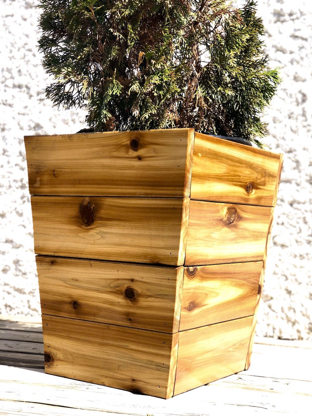 Tall cedar planter in winnipeg