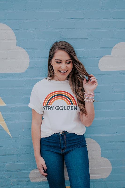 Stay Golden T-Shirt Design