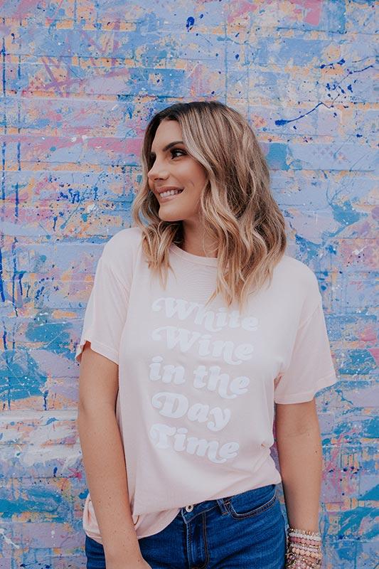 White Wine In The Daytime T-Shirt Design