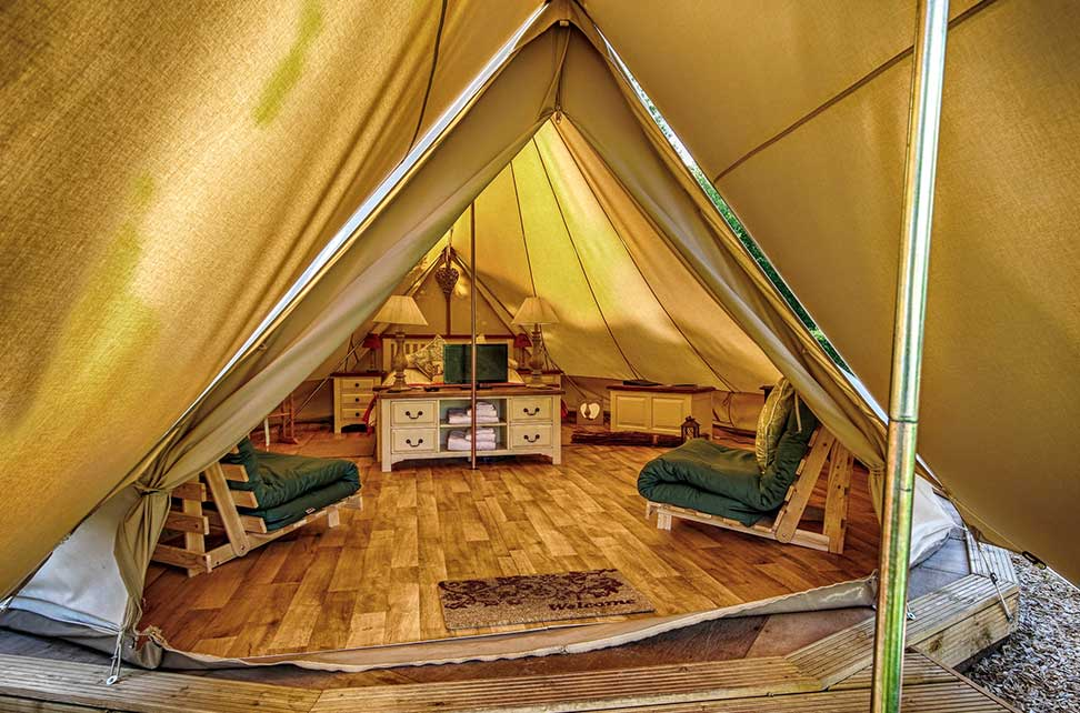 What is provided inside the Bell Tent. & Bell Tent Glamping in Norfolk | Deeru0027s Glade