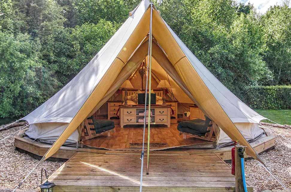 Deeru0027s Glade Bell Tents & Luxury Mega Glamping Pods In Norfolk | Deeru0027s Glade