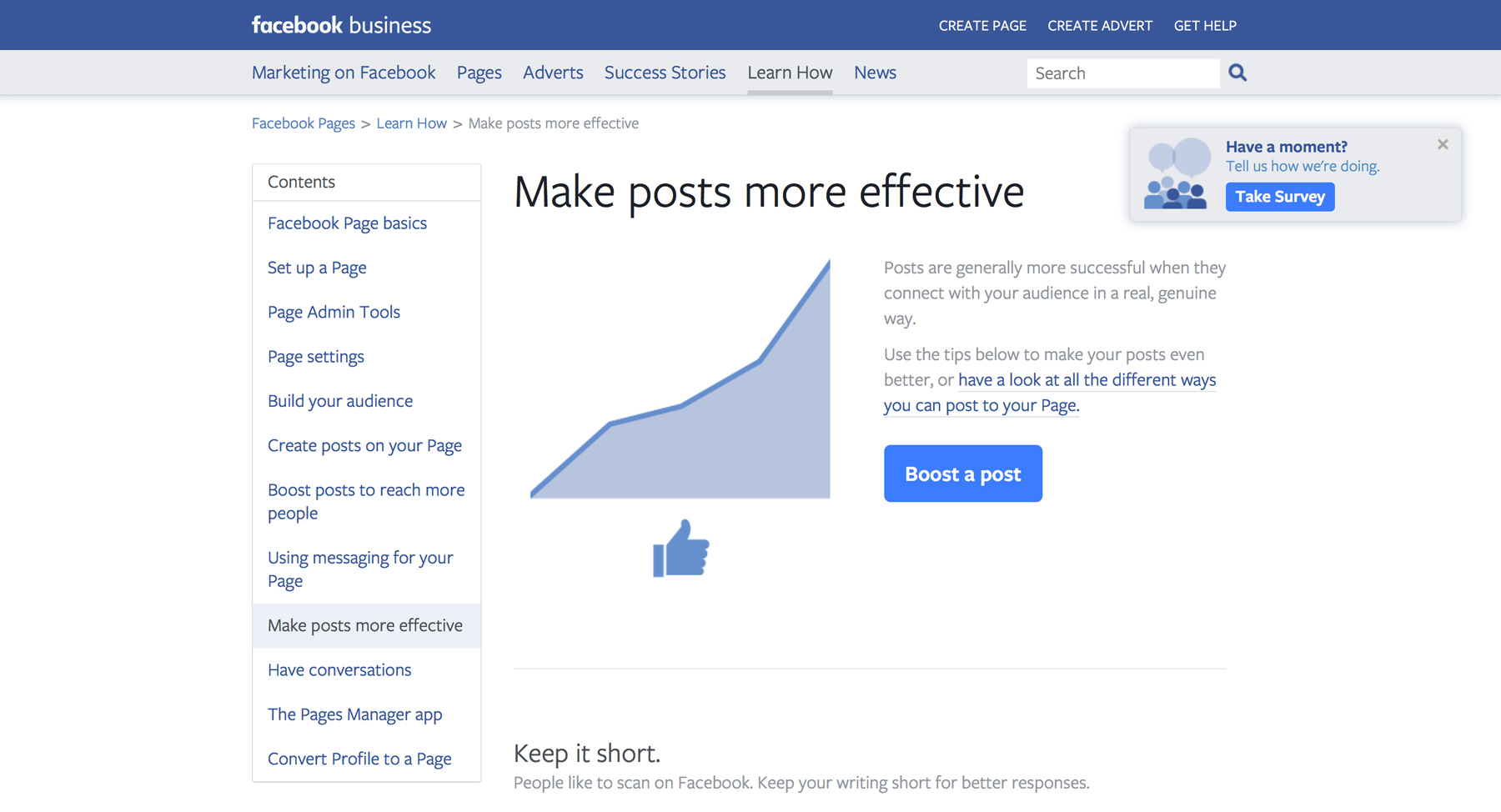 Effective Facebook Posts