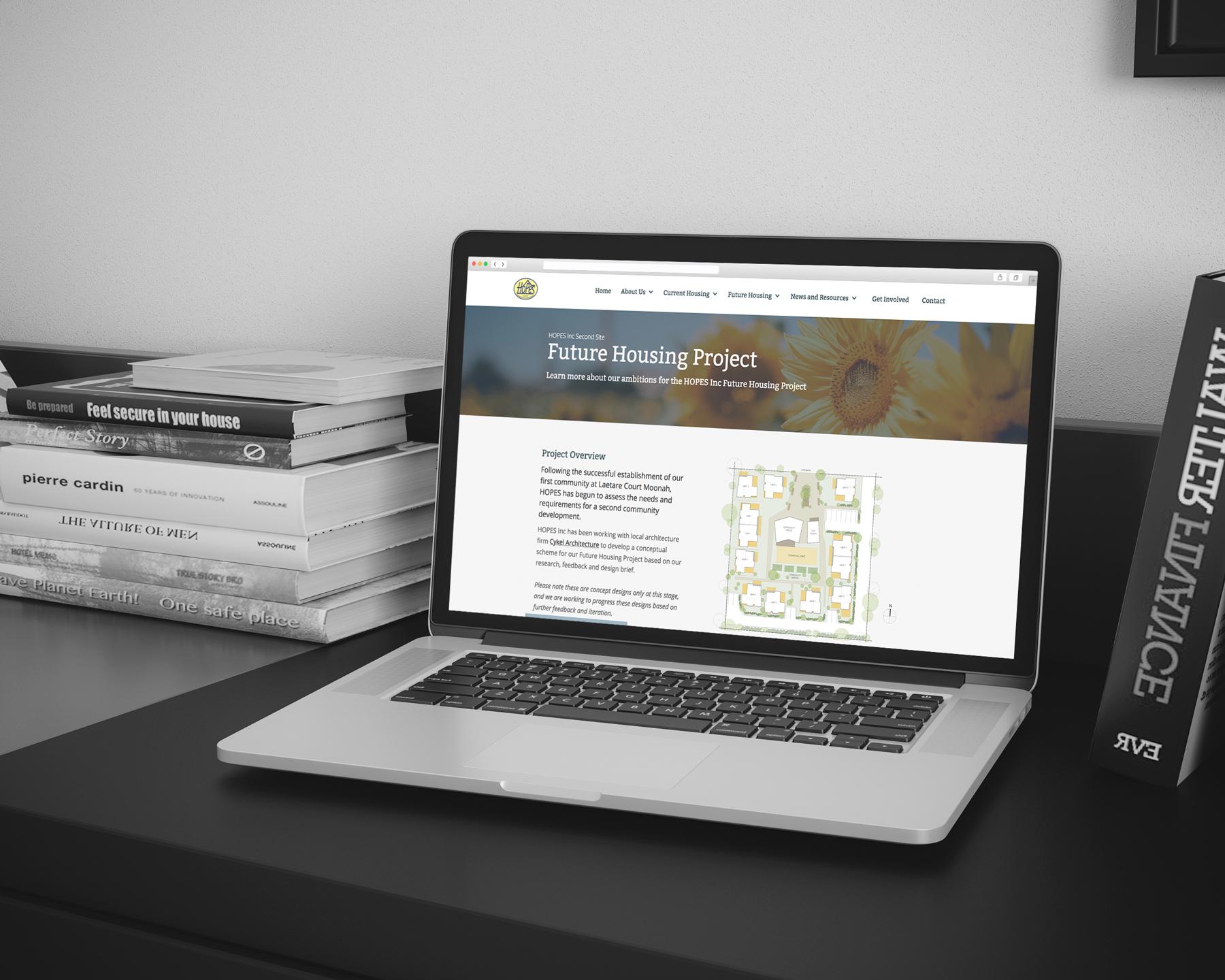 Promote the sense of community through website design