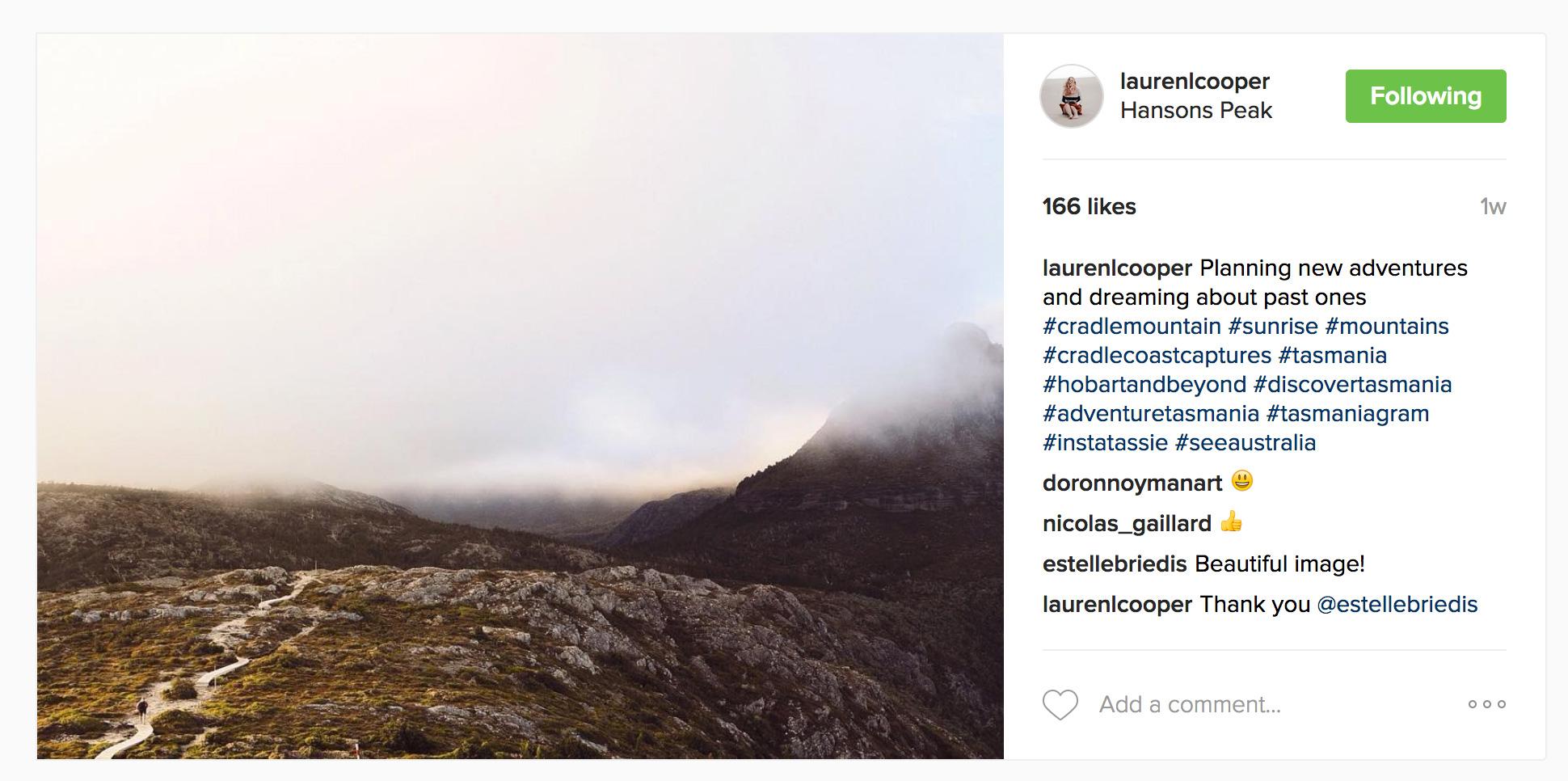 Three Tassie Instagramers I Follow