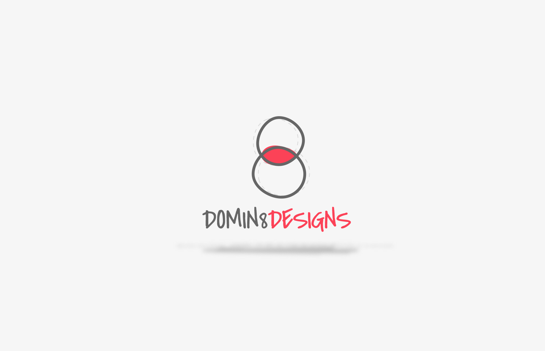 The current Domin8 Designs logo today.