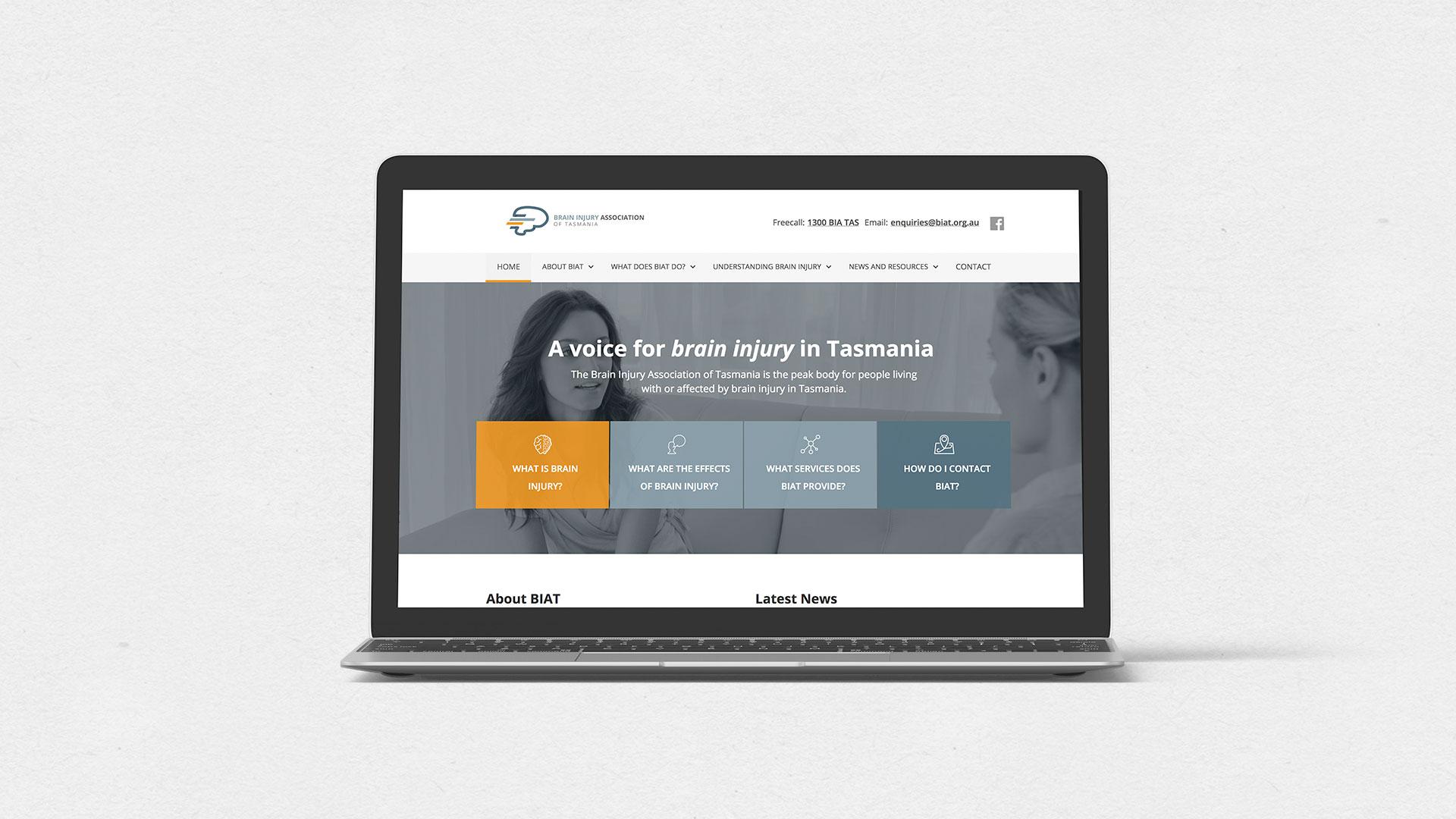 BIAT website on a laptop