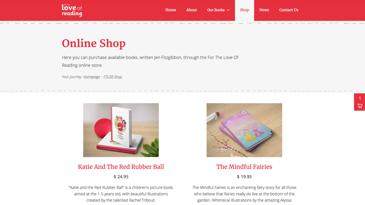 The online shop of FTLOR website