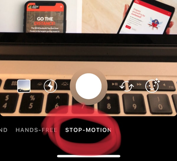 image showing where to find stop motion on instagram