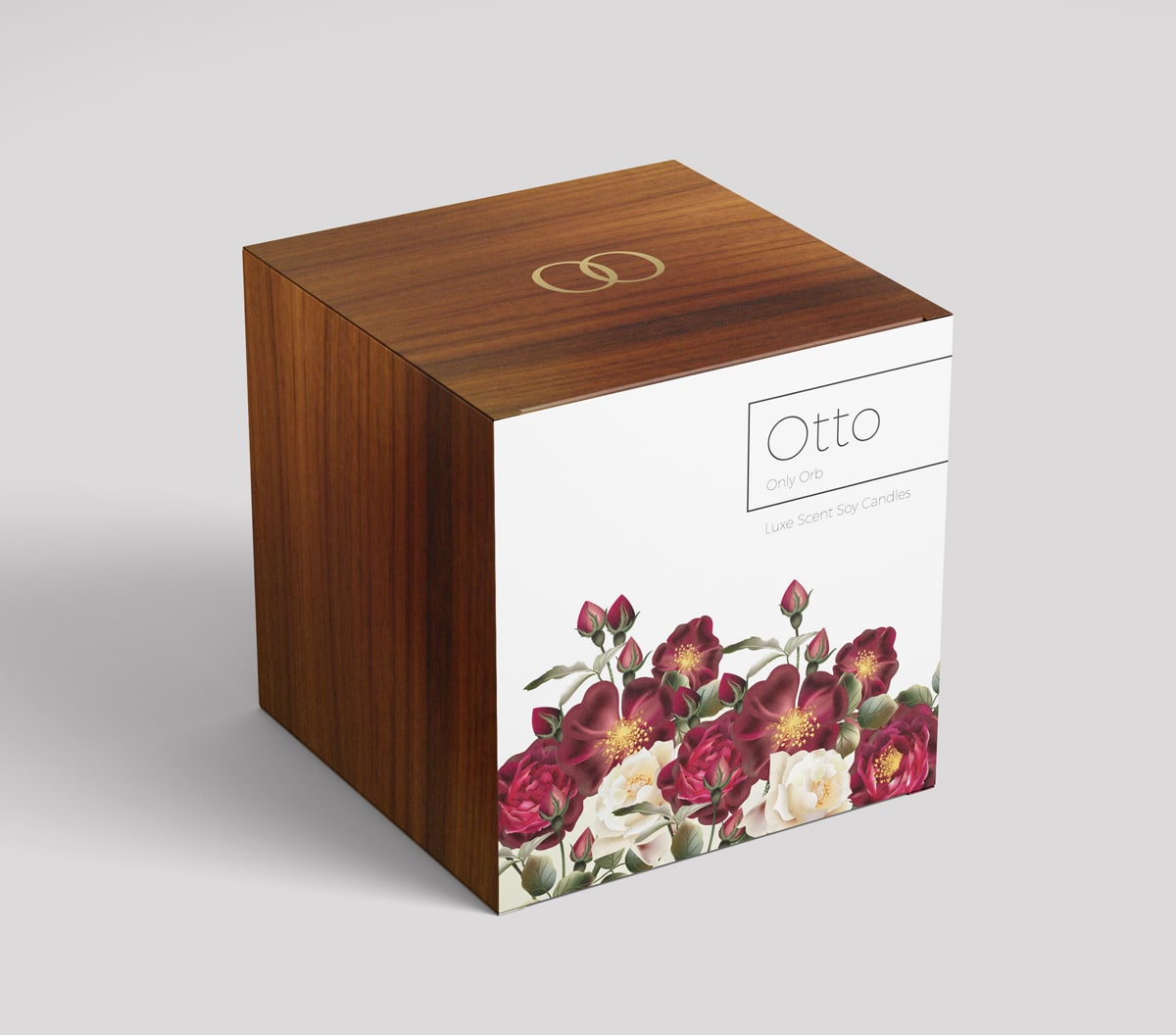 Box visualisation with flowers for Otto candle