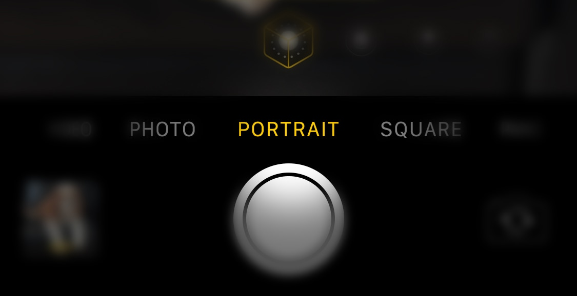 screenshot of iphone to select potrait mode