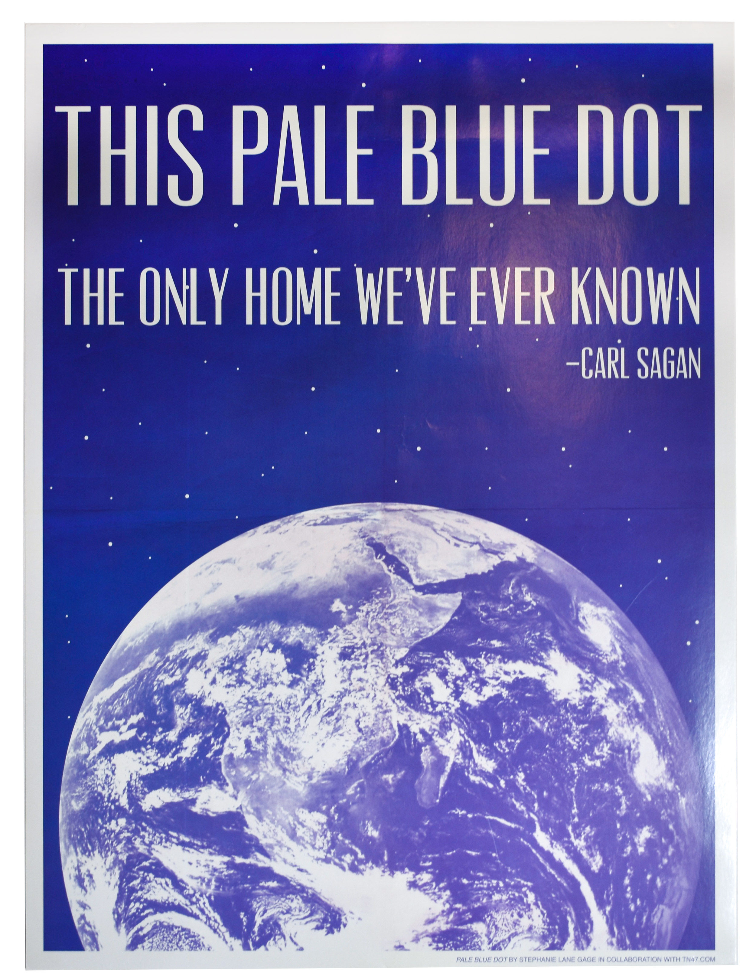 This pale blue dot, the only home we've ever known