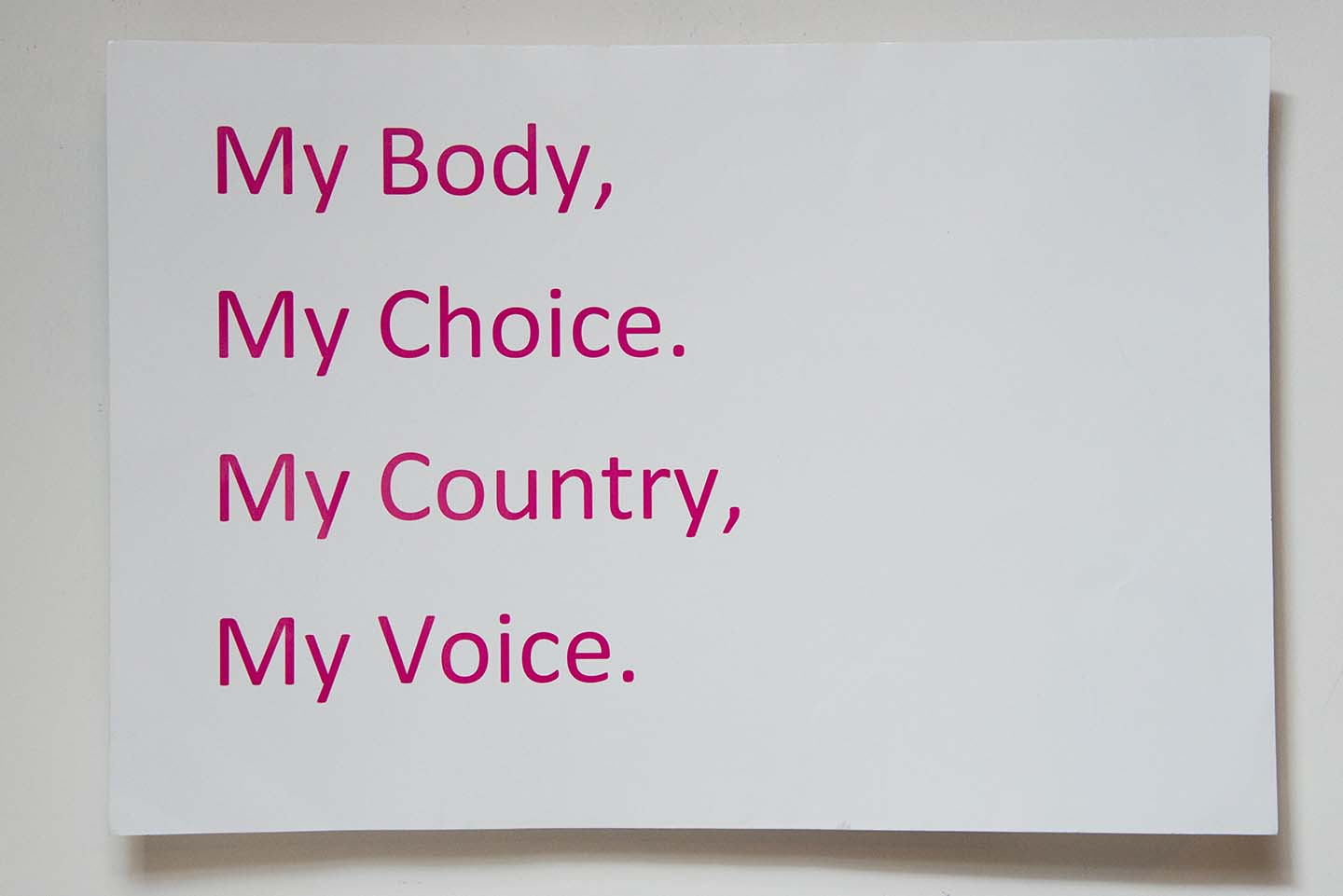 My Body My Choice My Country My Voice