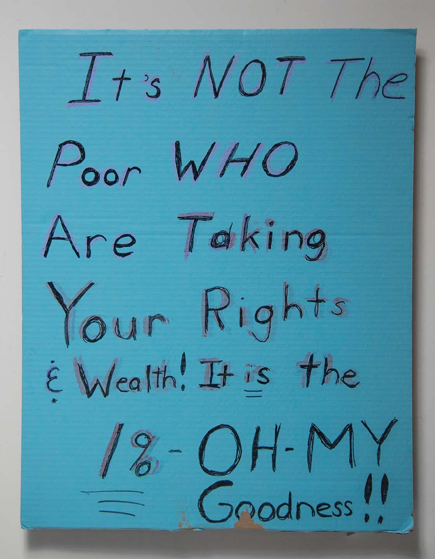 It Is Not The Poor...