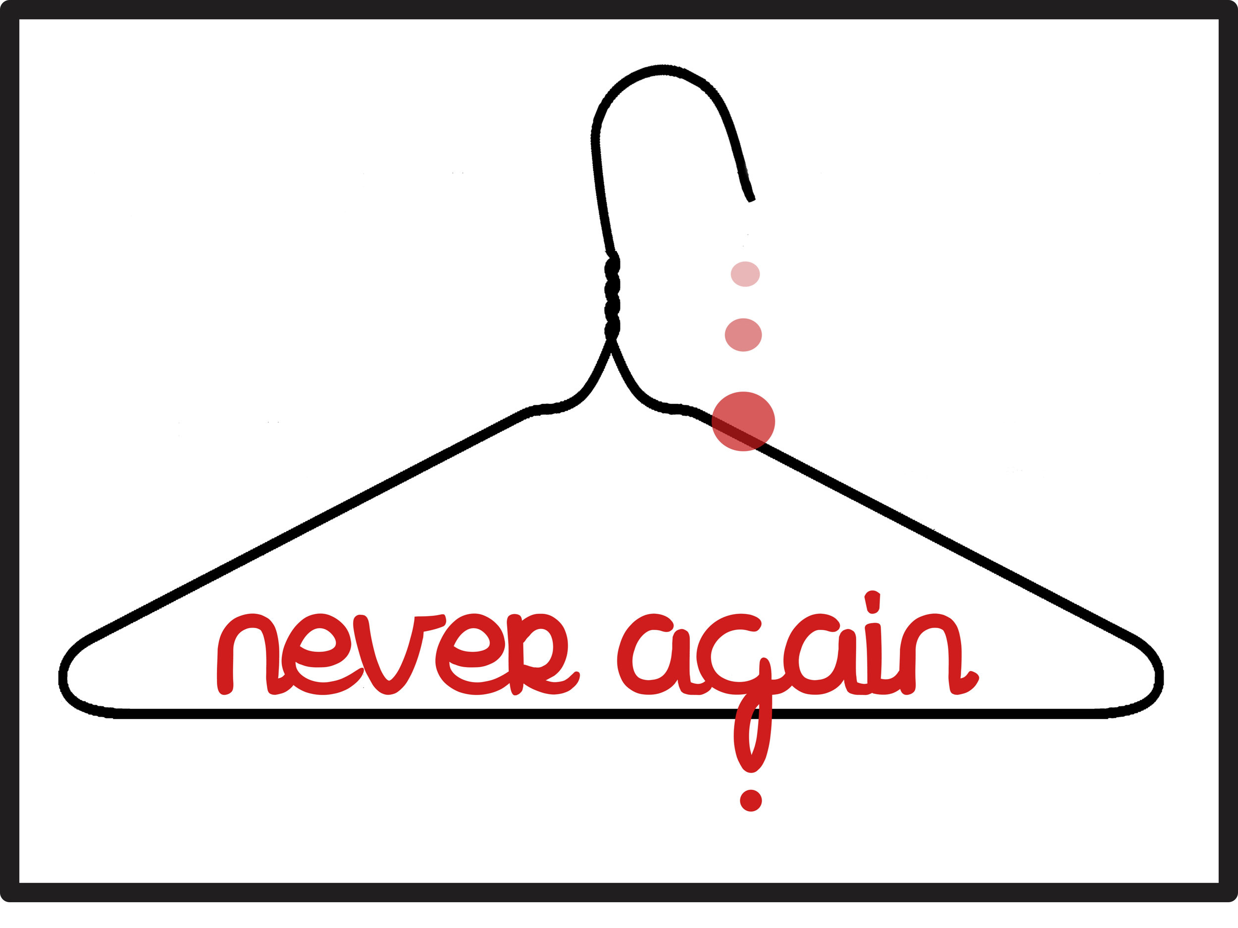 Never Again (Hanger) / Women's Rights Are Human Rights