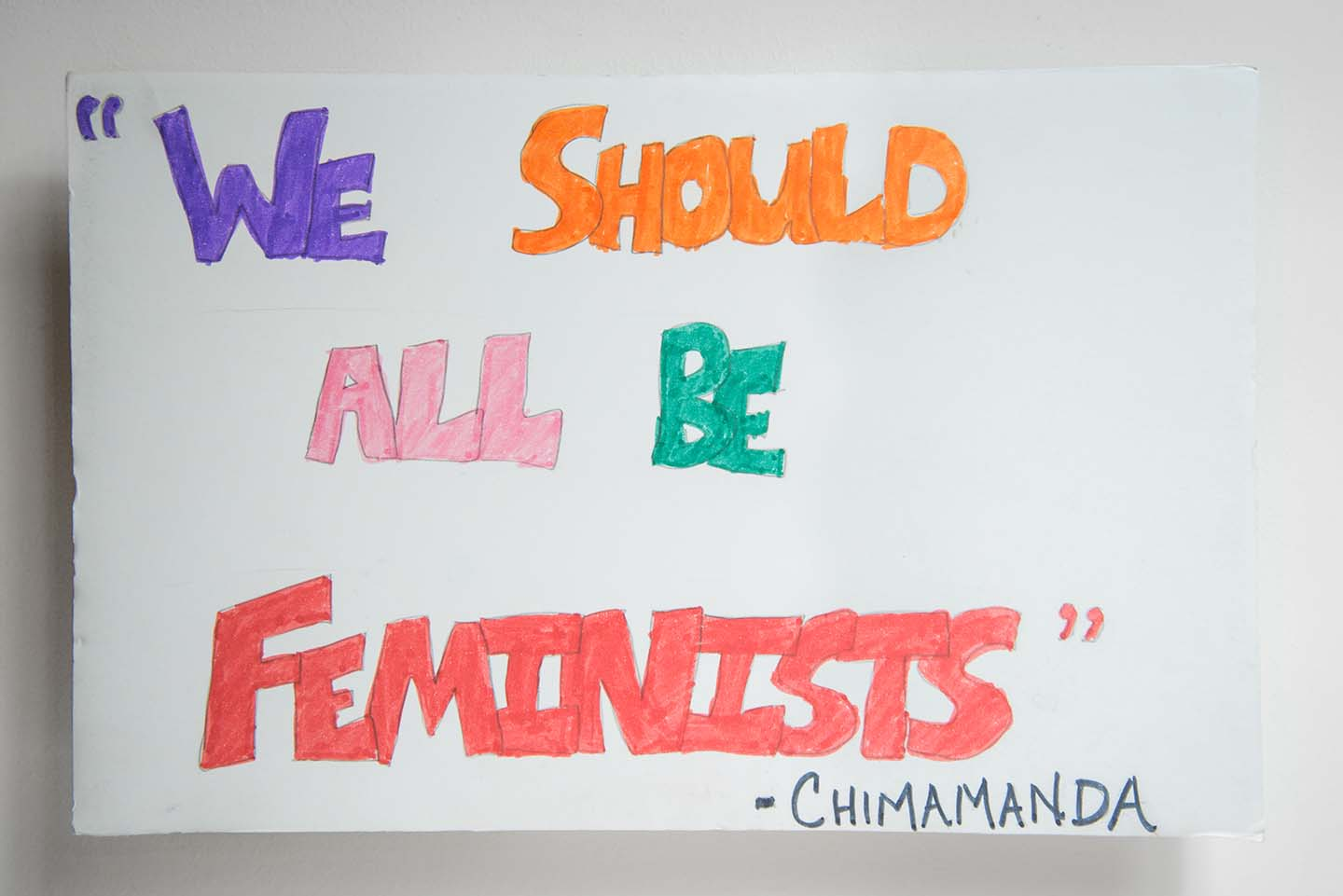 We Should All Be Feminists -Chimamanda /Masculinity Is a Hard?