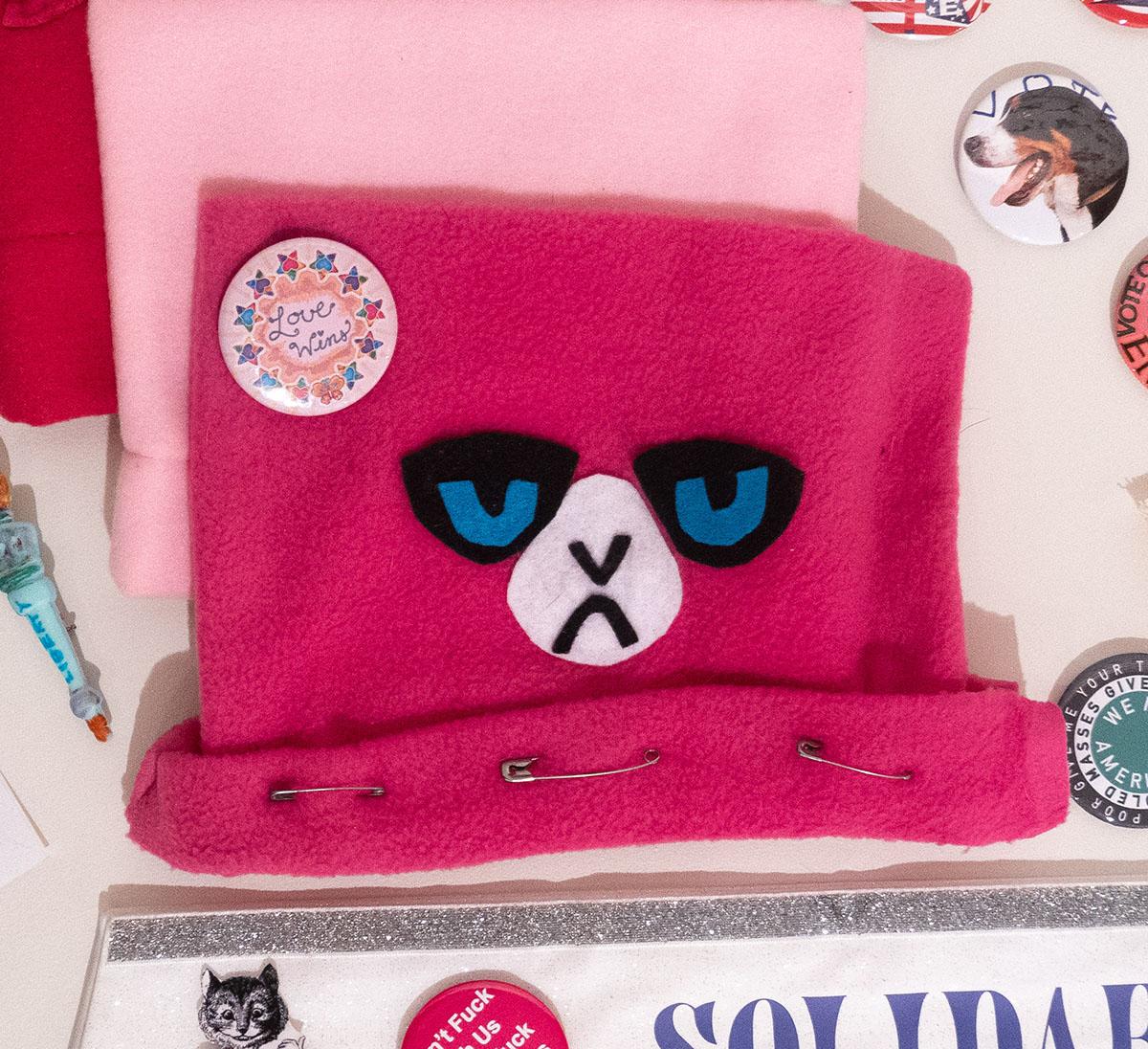 pussy hat (sewn)