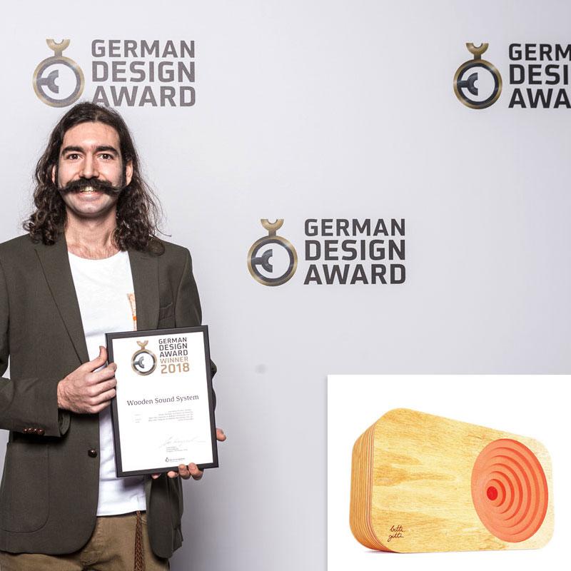 Ahşap Ses Sistemi 2018 Alman Tasarım Ödülü'nü kazandı!