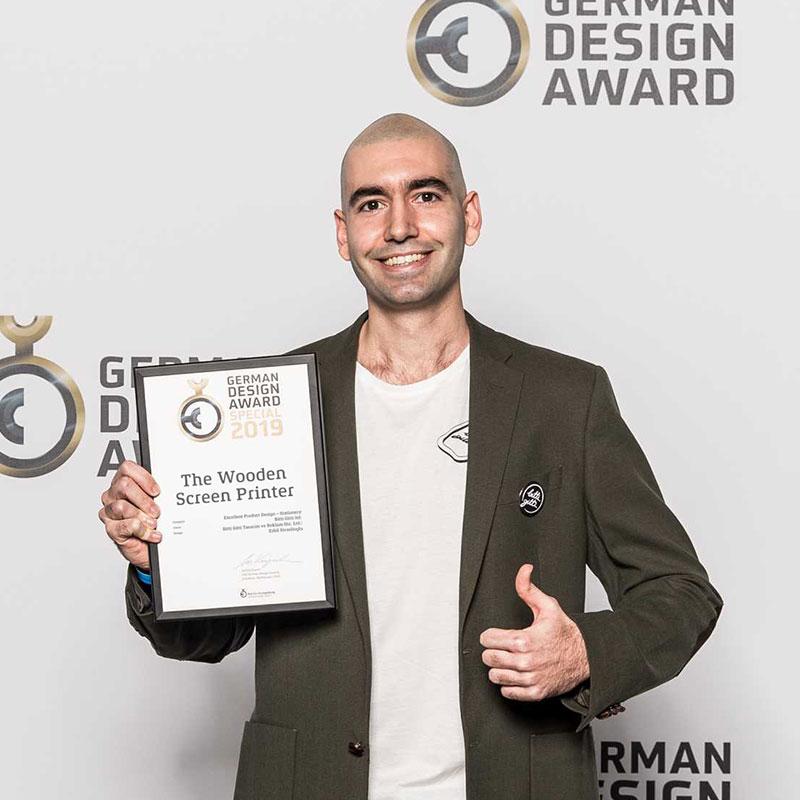 Ahşap Serigrafi Kiti 2019 Alman Tasarım Ödülü'nü kazandı!