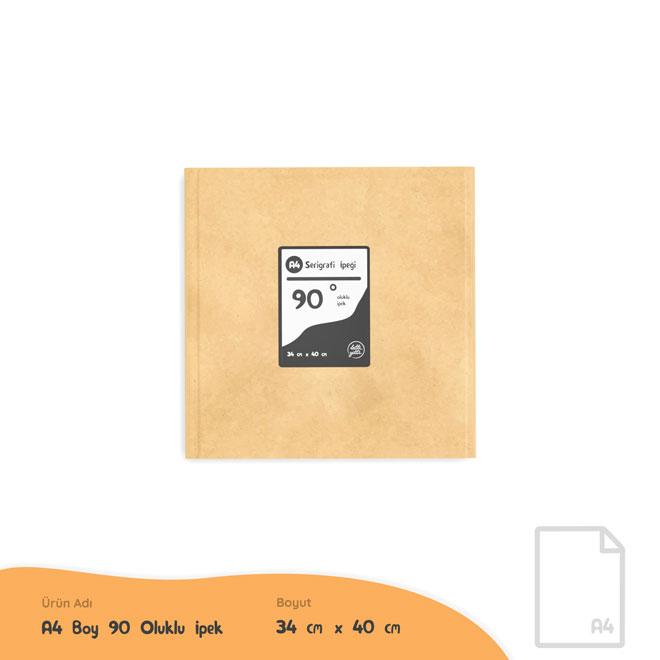 A4 Boy 90 Oluk Serigrafi İpeği