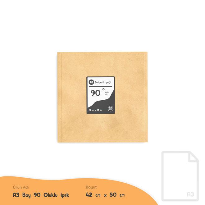 A3 Boy 90 Oluk Serigrafi İpeği