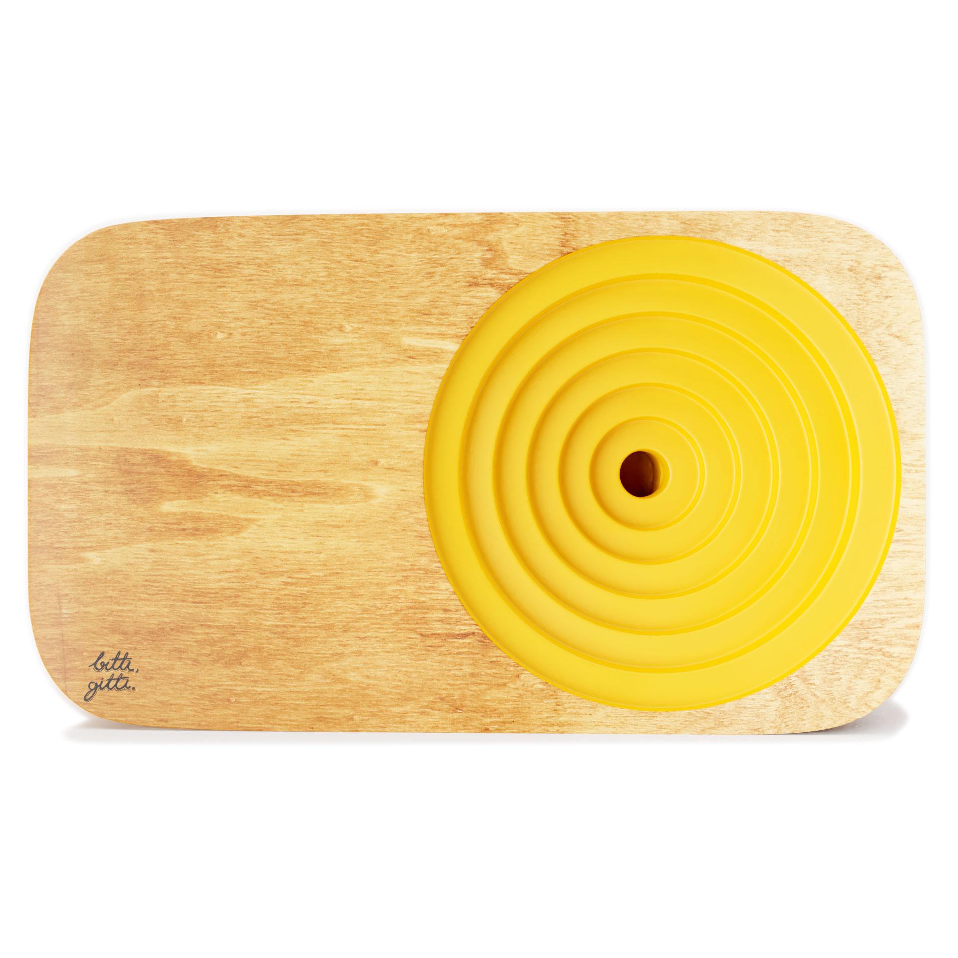 Sarı Ahşap Ses Sistemi