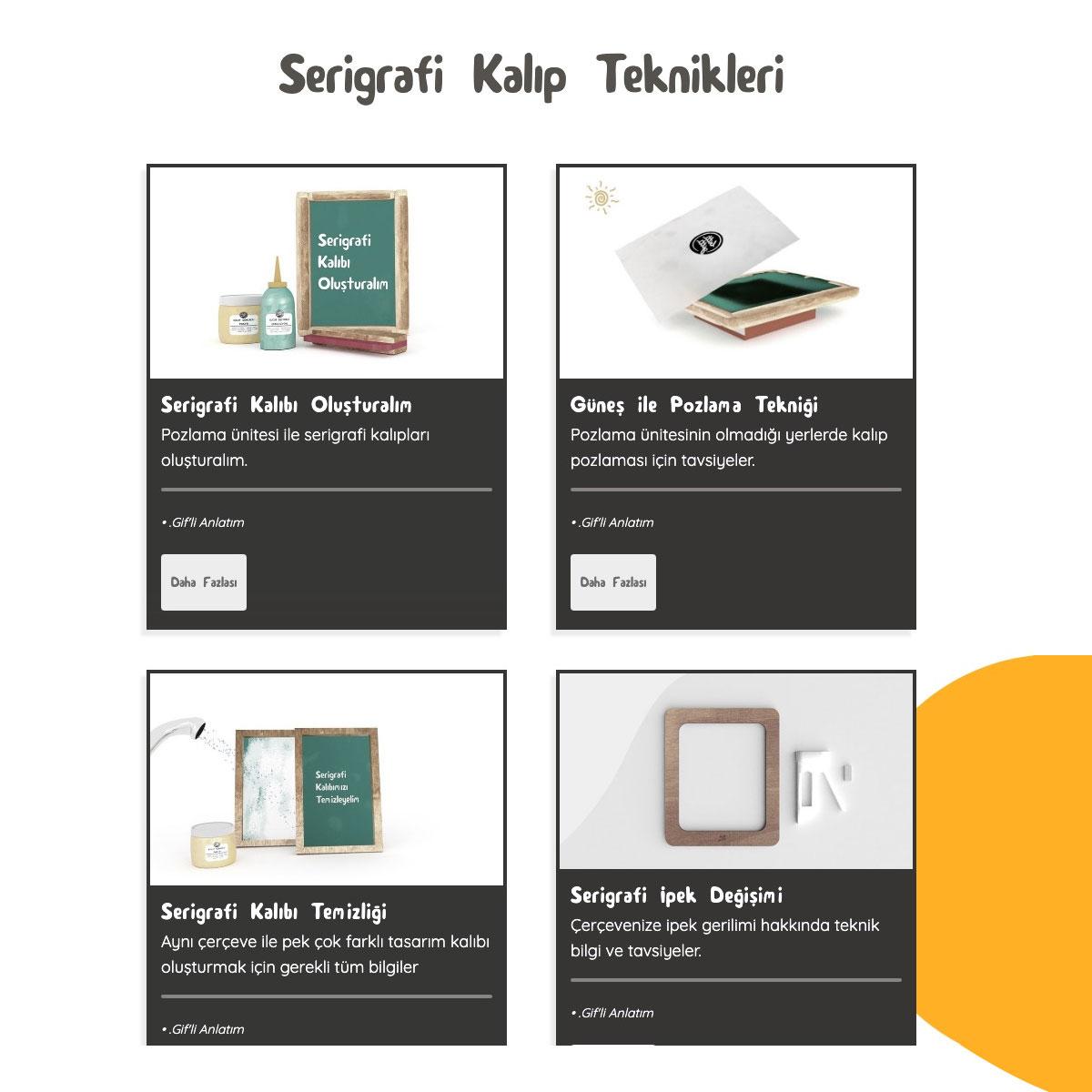 Serigrafi baskı eğitim paketi