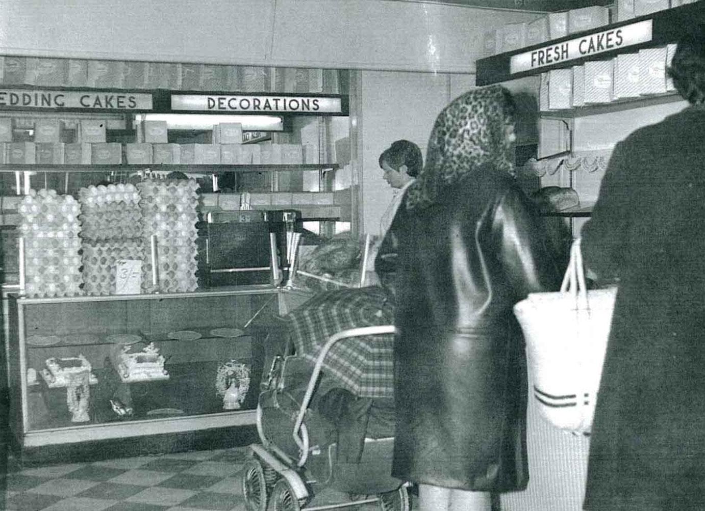Inside Mannings Bakery 1960s