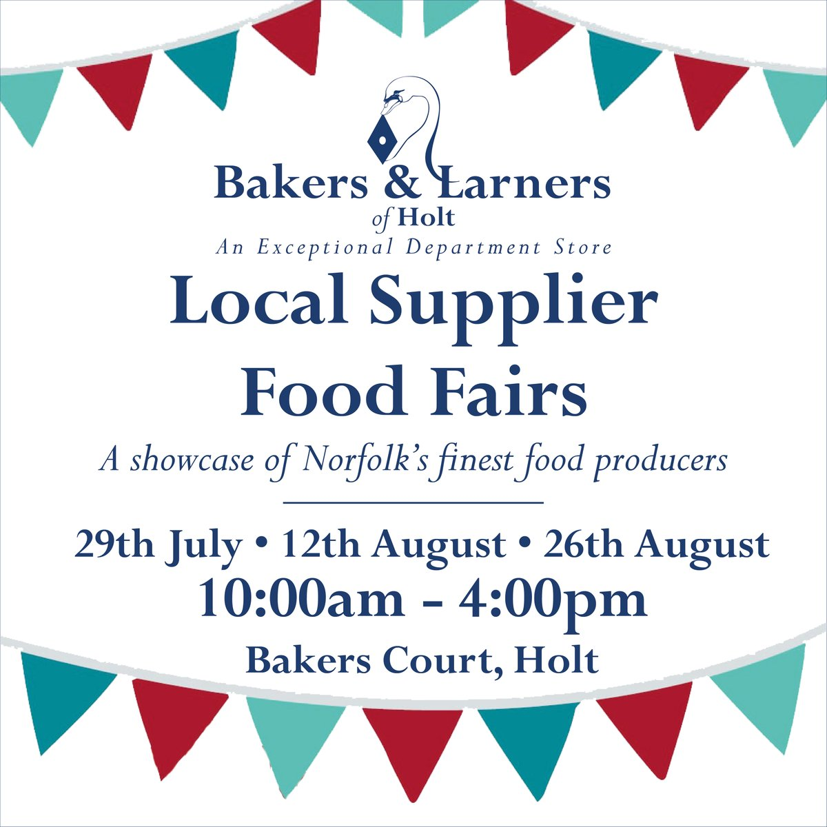 Bakers & Larners Sunday Summer Openings & Local Supplier Food Fairs