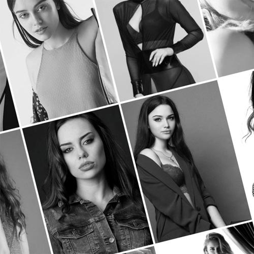 коллаж из моделей
