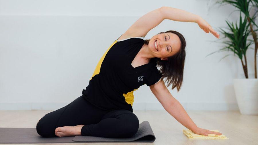 34 Pilates Terapéutico con trapos