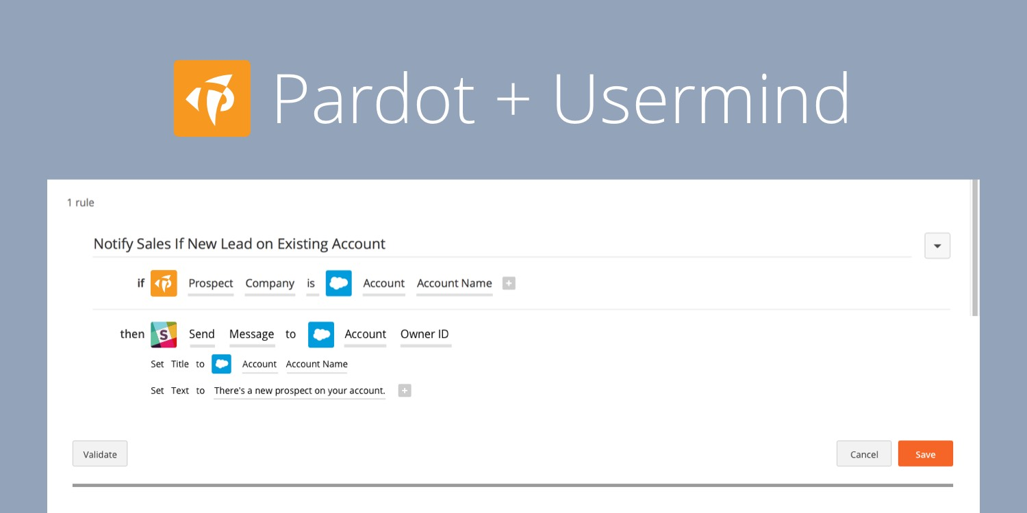 Introducing Usermind's Pardot Integration