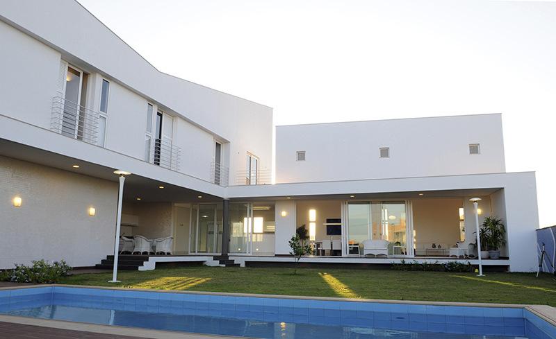Casa do Condomínio Alphaville, vista do pátio.