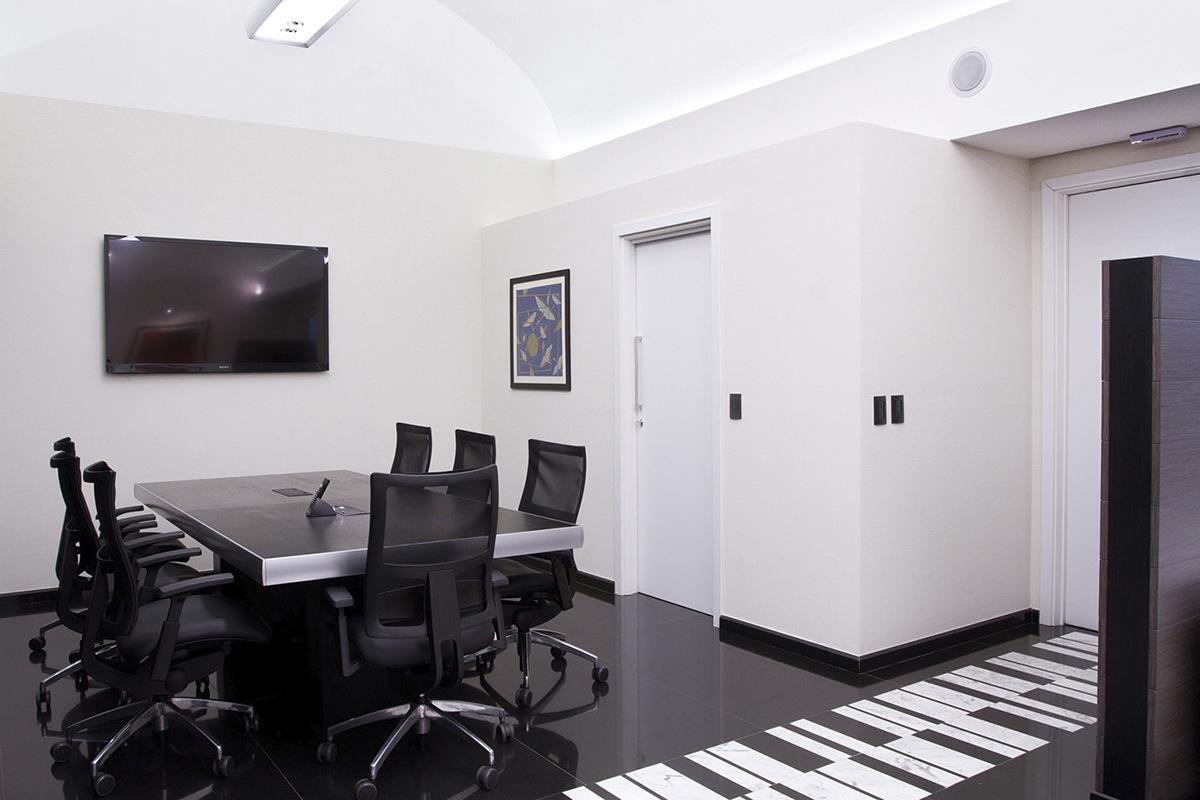 Sala de reuniões da diretoria da empresa.