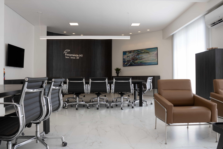 Sala da Presidência da Fecomercio - MT.