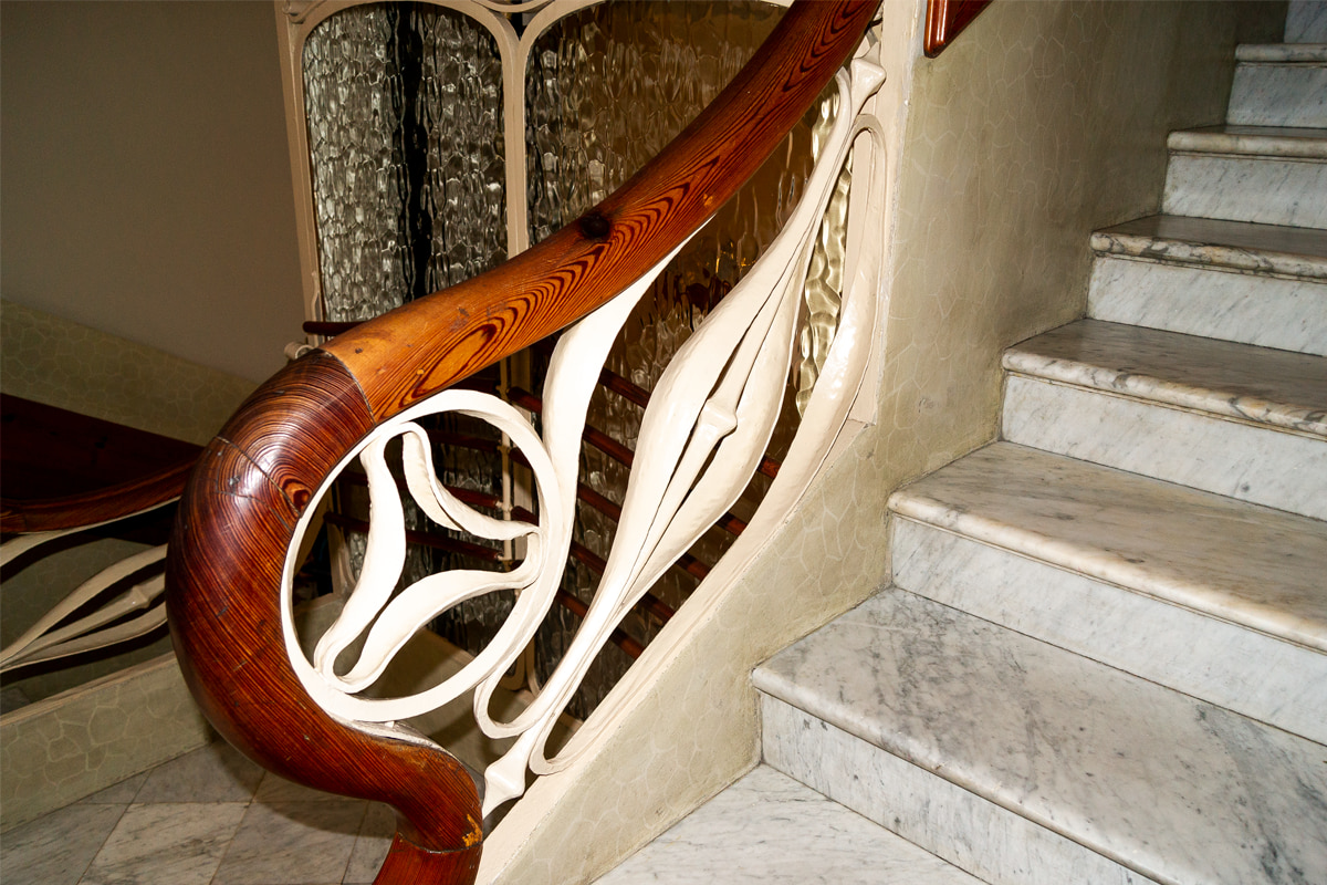 Detalhe do Corrimão da Casa Batlló - Gaudí