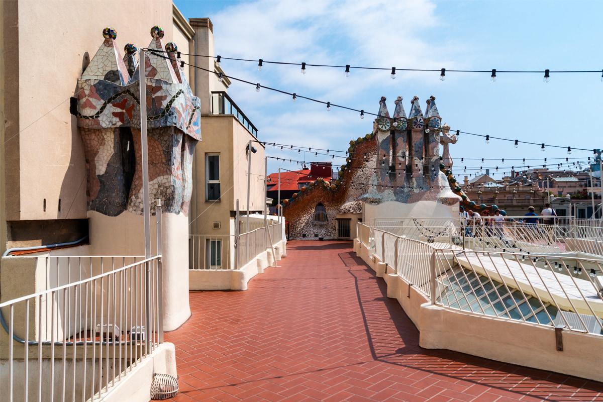 Terraço da Casa Batlló - Gaudí