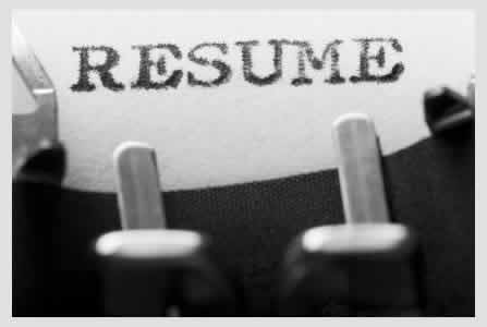 image of the word resume