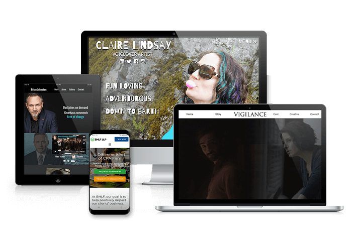 Mobile Responsive showcase of True Reflection Media website design