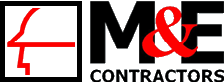 M & E Contractors Logo