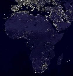 Poverty in Africa - Map of the places connected to electricity network