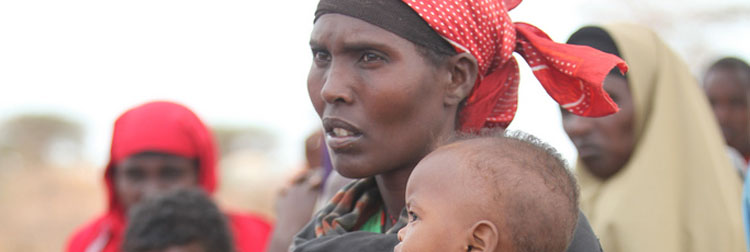 ‍Refugees from famine in Somalia