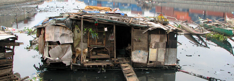 ‍Slums & makeshift housing in the Philippines