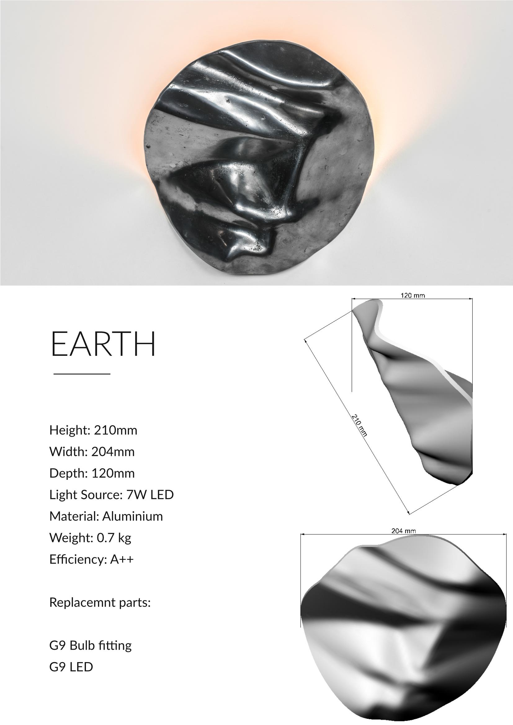 Earth Contemporary Uplighter Design Technical Sheet
