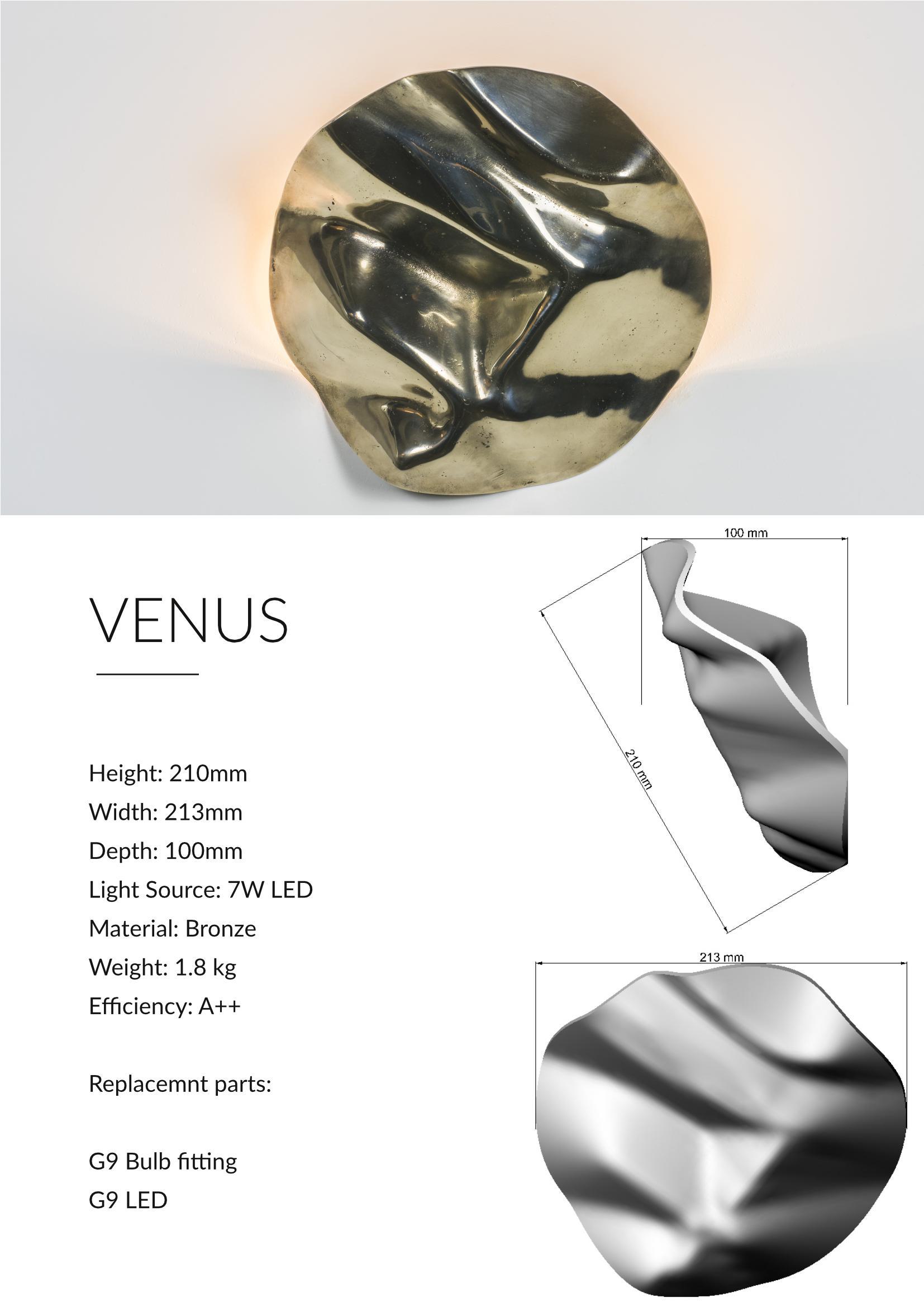 Venus Contemporary Uplighter Design Technical Sheet