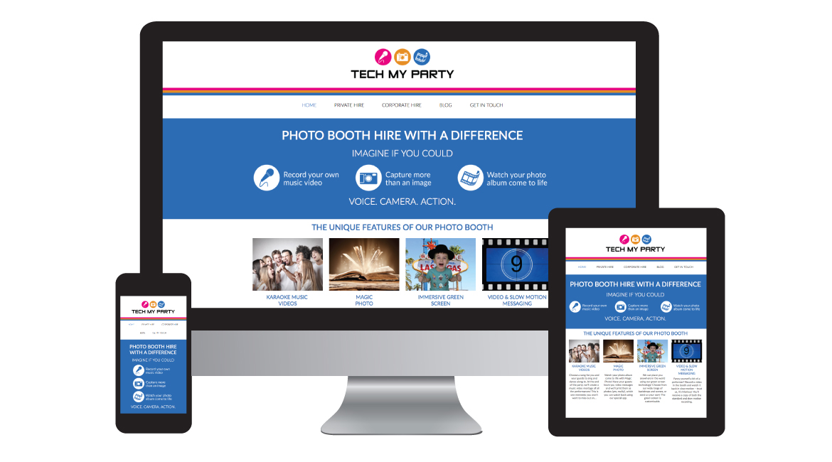 Tech My Party - Design in the Shires | Web Design Worcestershire | Graphic Design Worcestershire | Website Designers Malvern, Worcestershire UK