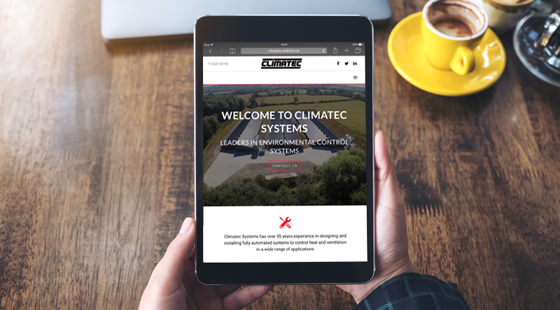 Climatec Systems Website Design & Graphic Design Project Malvern Worcestershire